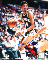 George Gervin Signed Spurs 8x10 Photo (PSA COA) at PristineAuction.com