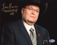 "Jim Ross Signed 8x10 Photo Inscribed ""WWE HOF '07"" (Beckett COA) at PristineAuction.com"
