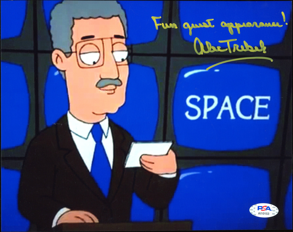 """Alex Trebek Signed """"Family Guy"""" 8x10 Photo Inscribed """"Fun Guest Appearance!"""" (PSA Hologram) at PristineAuction.com"""
