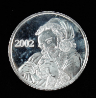 2002 Santa Claus Silver Bullion Round at PristineAuction.com