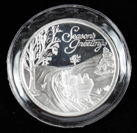 1998 Season Greetings Silver Bullion Round at PristineAuction.com