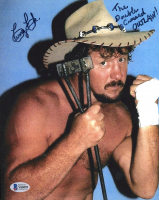 "Terry Funk Signed 8x10 Photo Inscribed ""The Double Crossed Outlaw"" (Beckett COA) at PristineAuction.com"