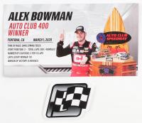 Alex Bowman Signed 2020 NASCAR #88 Cincinnati Inc. - California Win - Raced Version - 1:24 Premium Action Diecast Car (PA COA) at PristineAuction.com