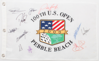 100th U.S. Open Pebble Beach Golf Pin Flag Signed by (10) With Jack Nicklaus, Greg Norman, David Duval, Ernie Els, Lee Janzen (Beckett LOA) at PristineAuction.com