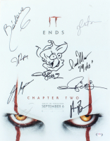 """""""IT: Chapter Two"""" 16x20 Movie Poster Print with Sketch Cast-Signed by (8) with Bill Skarsgard, Jessica Chastain, Jay Ryan, James Ransone, Isaiah Mustafa (PSA Hologram) at PristineAuction.com"""