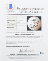 """George H. W. Bush Signed """"The White House"""" Golf Ball (Beckett LOA) at PristineAuction.com"""