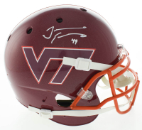 Tremaine Edmunds Signed Virginia Tech Hokies Full-Size Authentic On-Field Helmet (Beckett COA) at PristineAuction.com