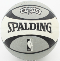 Spurs Logo Spalding Basketball Team-Signed by (8) with Tim Duncan, Manu Ginobili, Tony Parker, Keith Bogans, George Hill, Ian Mahinmi, Malik Hairston & Garrett Temple (Beckett LOA) at PristineAuction.com