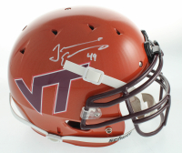 Tremaine Edmunds Signed Virginia Tech Hokies Full-Size Authentic On-Field Helmet (Beckett Hologram) at PristineAuction.com