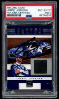 Jimmie Johnson Signed 2018 Donruss Rubber Relics #15 (PSA Encapsulated) at PristineAuction.com