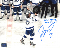"Ryan McDonagh Signed Lightning 8x10 Photo Inscribed ""2020 Stanley Cup Champion"" (McDonagh COA) at PristineAuction.com"