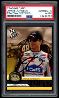 Jimmie Johnson Signed 2010 Press Pass Blue #111 T12 (PSA Encapsulated) at PristineAuction.com