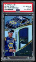 Chase Elliott Signed 2017 Select Select Swatches #6 (PSA Encapsulated) at PristineAuction.com