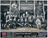 Bruins 2019 Winter Classic 8x10 Photo Team-Signed by (5) with Brad Marchand, Patrice Bergeron, Tuukka Rask, David Pastrnak & Zdeno Chara (YSMS COA) at PristineAuction.com