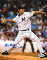 "Mike Mussina Signed Yankees 8x10 Photo Inscribed ""HOF 2019"" (Beckett COA) at PristineAuction.com"