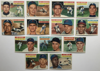 Lot of (13) 1956 Topps Baseball Cards with Early Wynn #187, Red Schoendienst #165, Walter Alston #8 at PristineAuction.com