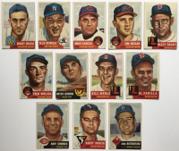 Lot of (12) 1953 Topps Baseball Cards with Mike Garcia #75, Allie Reynolds #141, Jim Hegan #80 at PristineAuction.com