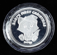 2018 Baby's First Christmas Silver Bullion Round at PristineAuction.com