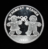 2008 Warmest Wishes Silver Bullion Round at PristineAuction.com