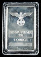 1 Troy Ounce .999 German Reichsadler Silver Bullion Bar at PristineAuction.com