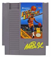 "Magic Johnson Signed ""Magic Johnson's Fast Break"" Nintendo Video Game (Beckett COA) at PristineAuction.com"