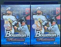 Lot of (2) 2020 Bowman Platinum Baseball Hanger Boxes at PristineAuction.com