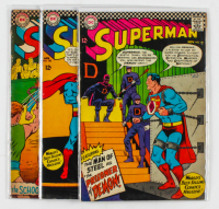 Lot of (3) 1966 DC Superman Comic Books with Issues Ranging from #185 - #191 at PristineAuction.com