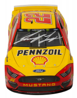 Joey Logano Signed #22 Shell-Pennzoil 2017 Fusion Galaxy Color 1:24 Diecast Car (PA Hologram & Beckett COA) at PristineAuction.com