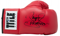 "Manny Pacquiao Signed Title Boxing Glove Inscribed ""Pacman"" with Display Case (Beckett COA) at PristineAuction.com"