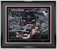 "Dale Earnhardt ""Black Attack"" 31.5x36.5 Custom Framed Print Display at PristineAuction.com"