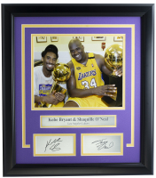 Kobe Bryant & Shaquille O'Neal Lakers 14x18 Custom Framed Photo Display at PristineAuction.com