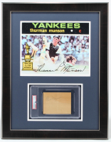 Thurman Munson Signed 21.5x27.5 Custom Framed Cut Display (PSA Encapsulated) at PristineAuction.com