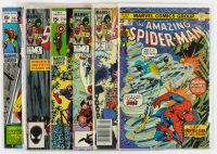 Lot of (6) Marvel Comic Books Including 1975 The Amazing Spiderman #143, 1984 Marvel Super Heroes Secret Wars #5, 1969 Captain America #120 at PristineAuction.com