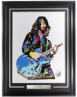 "Dave Grohl ""Foo Fighters"" 20x26 Custom Framed Artist Print Inscribed ""7-22-20"" at PristineAuction.com"