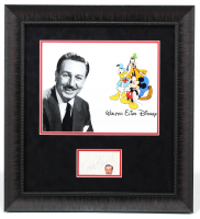 Walt Disney Signed 22x24 Custom Framed Cut Display (Beckett COA) at PristineAuction.com