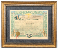 Herbert Hoover Signed 25x30 Custom Framed Document Display (Beckett LOA) at PristineAuction.com