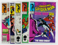 "Lot of (5) Marvel Comics ""The Amazing Spider-Man"" Comic Books with Issues Ranging From #243 - #296 at PristineAuction.com"