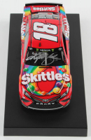 Kyle Busch Signed 2019 NASCAR #18 Skittles - 1:24 Premium Action Diecast Car (PA COA) at PristineAuction.com