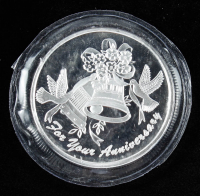 1 Troy oz .999 For Your Anniversary Silver Bullion Round at PristineAuction.com