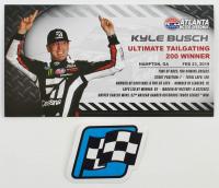 Kyle Busch Signed 2019 NASCAR #51 Cessna - Atlanta Win - Raced Version - 1:24 Premium Action Diecast Car (PA COA) at PristineAuction.com