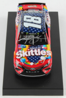 Kyle Busch Signed 2019 NASCAR #18 Skittles Red, White & Blue - 1:24 Premium Action Diecast Car (PA COA) at PristineAuction.com