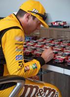 Kyle Busch Signed 2019 NASCAR #18 M&M's - 1:24 Premium Action Diecast Car (PA COA) at PristineAuction.com