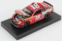Kyle Busch Signed 2019 NASCAR #18 Skittles - Bristol Win - Raced Version - 1:24 Premium Action Diecast Car (PA COA) at PristineAuction.com