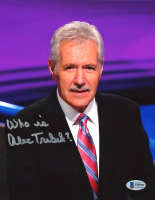 """Alex Trebek Signed """"Jeopardy!"""" 8x10 Photo Inscribed """"Who Is"""" (Beckett COA) at PristineAuction.com"""