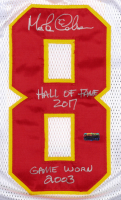 """Morten Anderson Signed Game-Used Chiefs Uniform Inscribed """"Hall of Fame 2017"""" & """"Game Worn 2003"""" (Anderson COA) at PristineAuction.com"""
