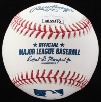 OML Baseball Signed by Alexandria Ocasio-Cortez, Robert D. Manfred Jr., & Joseph P. Kennedy III (JSA LOA) at PristineAuction.com