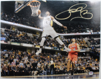 Paul George Signed Pacers 11x14 Photo (PSA Hologram) at PristineAuction.com