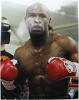 Floyd Mayweather Jr. Signed 11x14 Photo (PSA Hologram) at PristineAuction.com