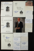 Lot of (20) Signed Basketball Hall of Famers & Stars Flats with Dick Vitale, Bob Cousy, Red Auerbach, Sam Jones (Sportscards SOA) at PristineAuction.com