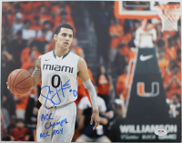 """Shane Larkin Signed Miami Hurricanes 11x14 Photo Inscribed """"ACC Champs"""" & """"ACC POY"""" (PSA Hologram) at PristineAuction.com"""